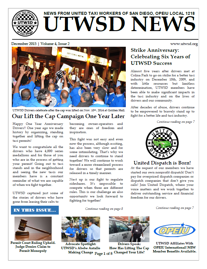 Newsletter Cover December 2015
