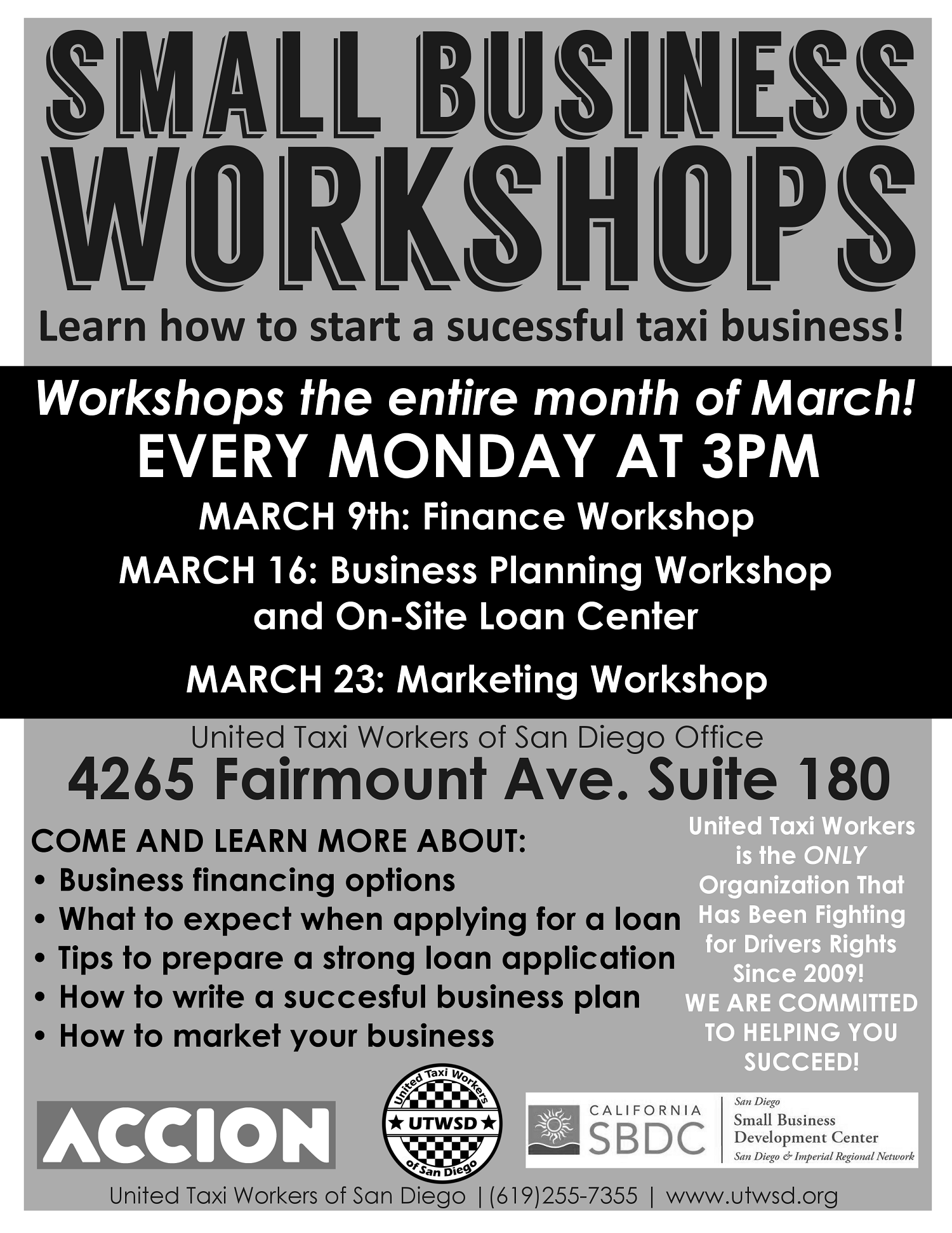 Small Business Workshop Flyer