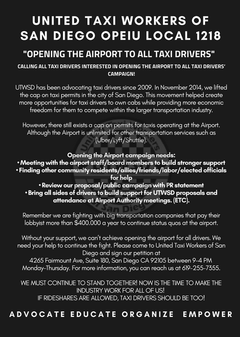 """""""Opening the Airport to all Taxi Drivers"""""""