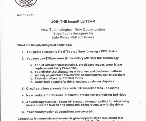 Join the BEAMRide Team with UTWSD Today